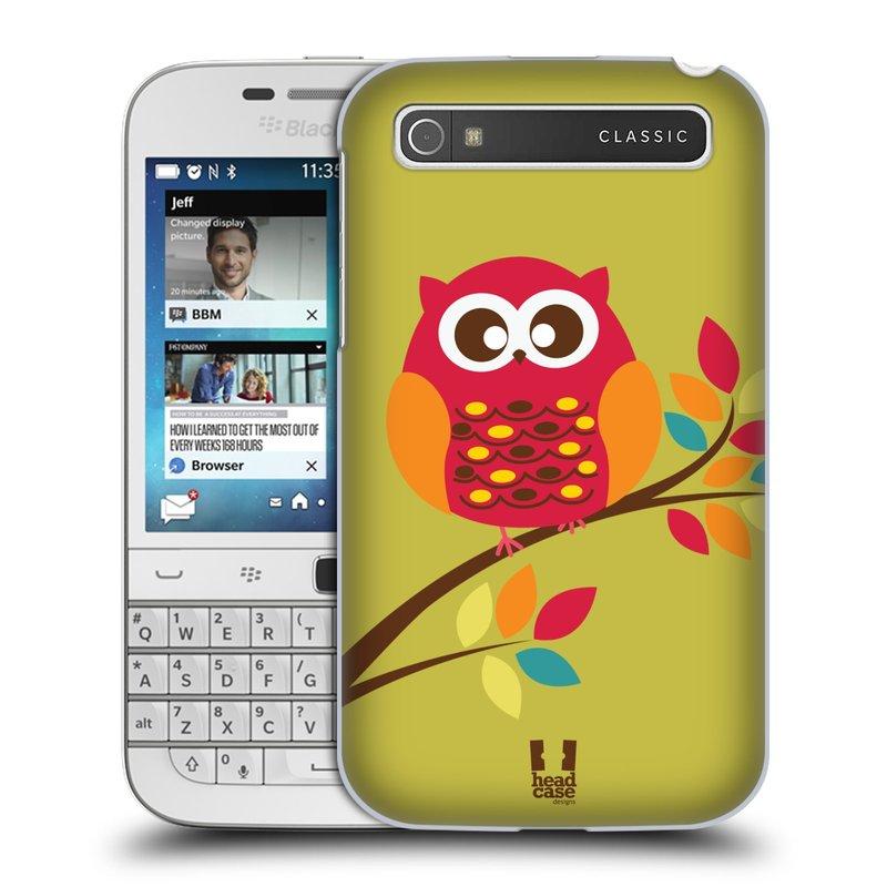 Plastové pouzdro na mobil Blackberry Classic HEAD CASE SOVIČKA NA VĚTVI (Kryt či obal na mobilní telefon Blackberry Classic)