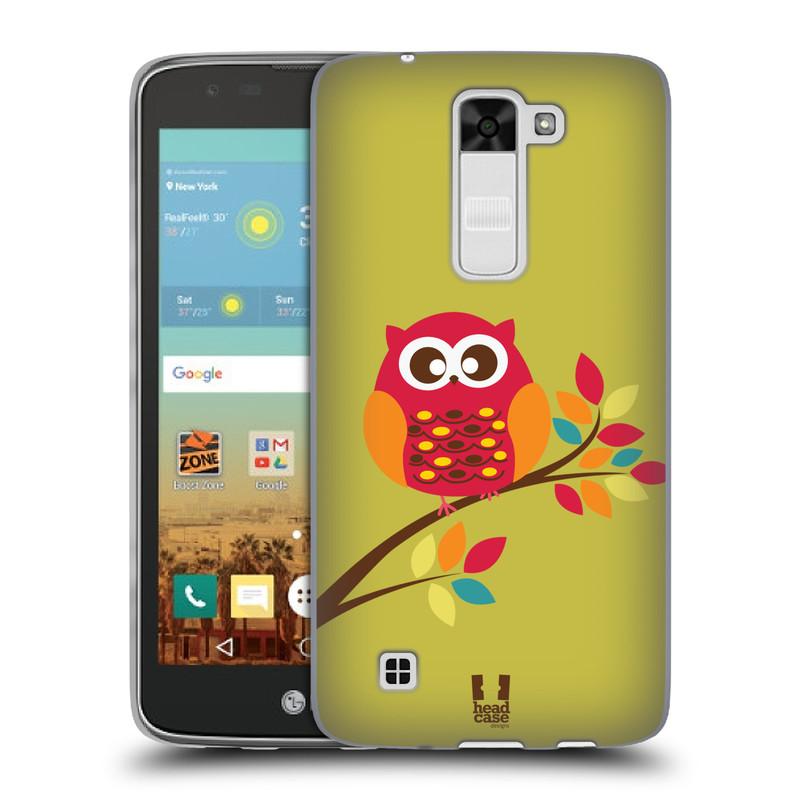 Silikonové pouzdro na mobil LG K7 HEAD CASE SOVIČKA NA VĚTVI (Silikonový kryt či obal na mobilní telefon LG K7)