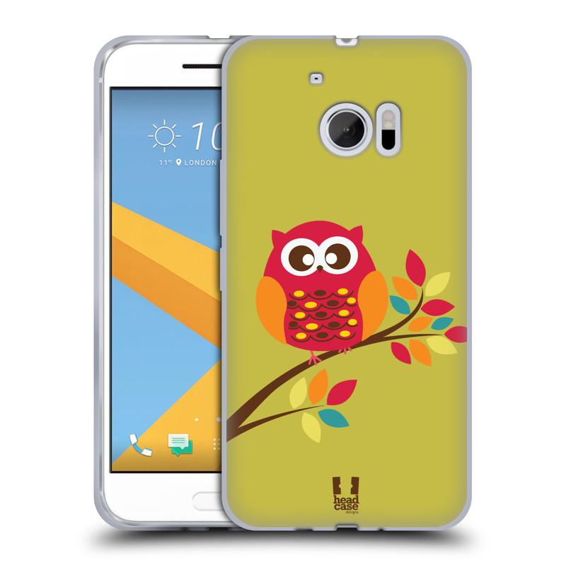 Silikonové pouzdro na mobil HTC 10 HEAD CASE SOVIČKA NA VĚTVI (Silikonový kryt či obal na mobilní telefon HTC 10 (HTC One M10))