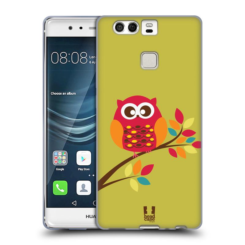Silikonové pouzdro na mobil Huawei P9 HEAD CASE SOVIČKA NA VĚTVI (Silikonový kryt či obal na mobilní telefon Huawei P9)