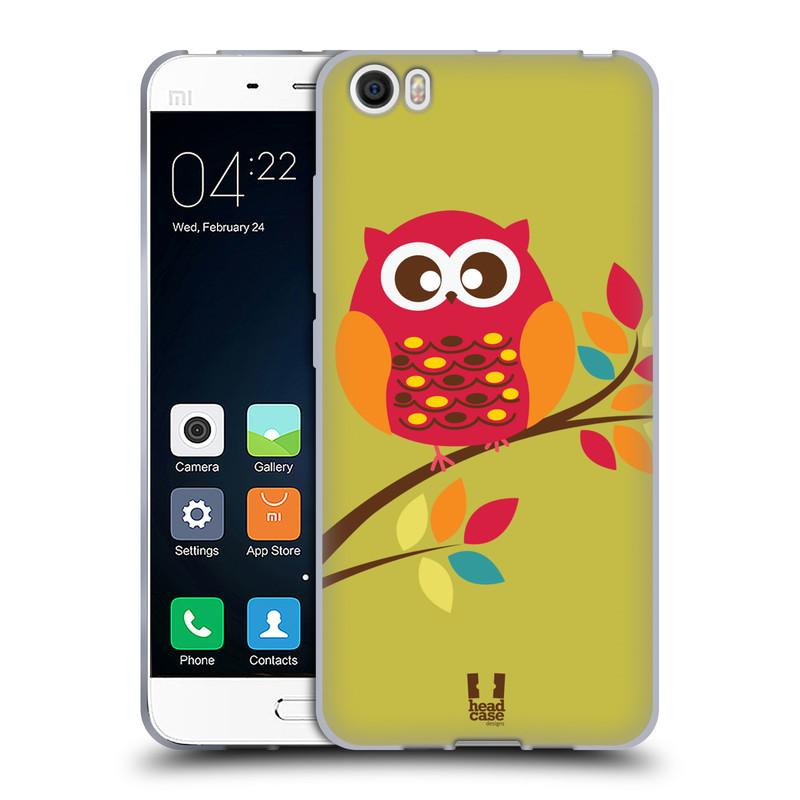 Silikonové pouzdro na mobil Xiaomi Mi5 HEAD CASE SOVIČKA NA VĚTVI (Silikonový kryt či obal na mobilní telefon Xiaomi Mi5)