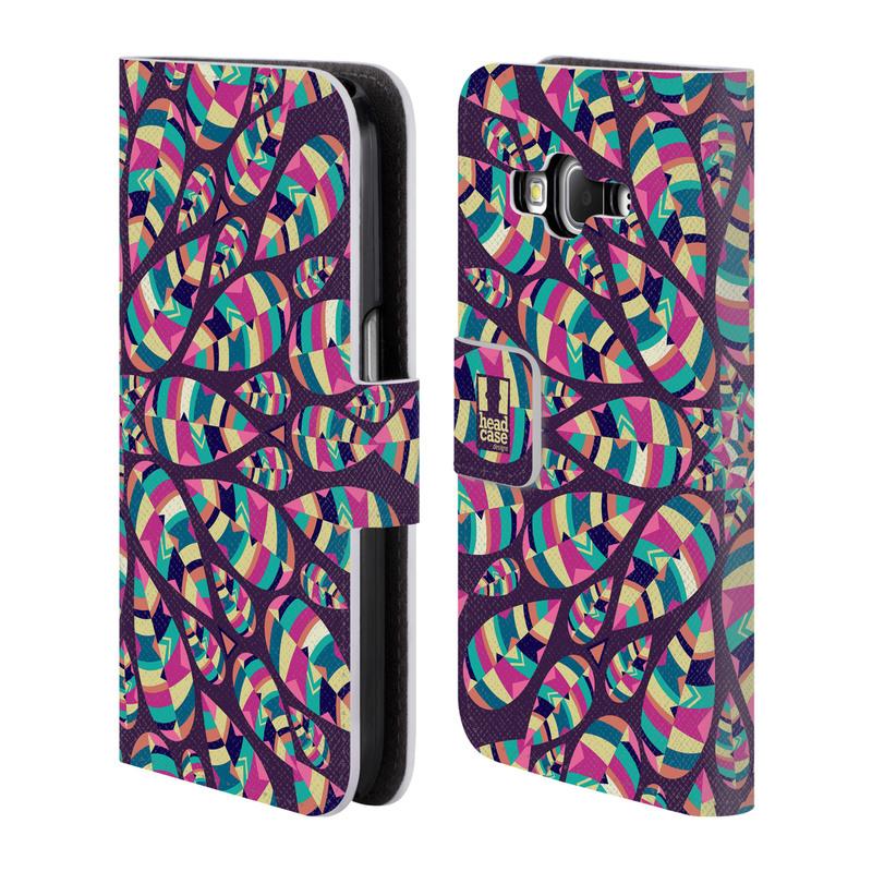 Flipové pouzdro na mobil Samsung Galaxy Core Prime LTE HEAD CASE Shine (Flipový vyklápěcí kryt či obal z umělé kůže na mobilní telefon Samsung Galaxy Core Prime LTE SM-G360)