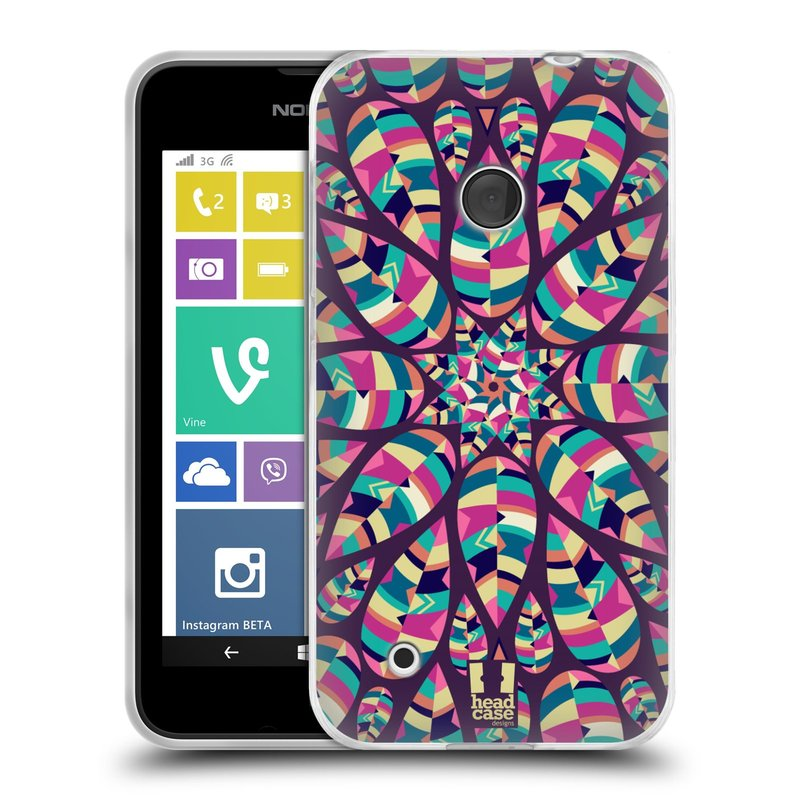 Silikonové pouzdro na mobil Nokia Lumia 530 HEAD CASE Shine (Silikonový kryt či obal na mobilní telefon Nokia Lumia 530)