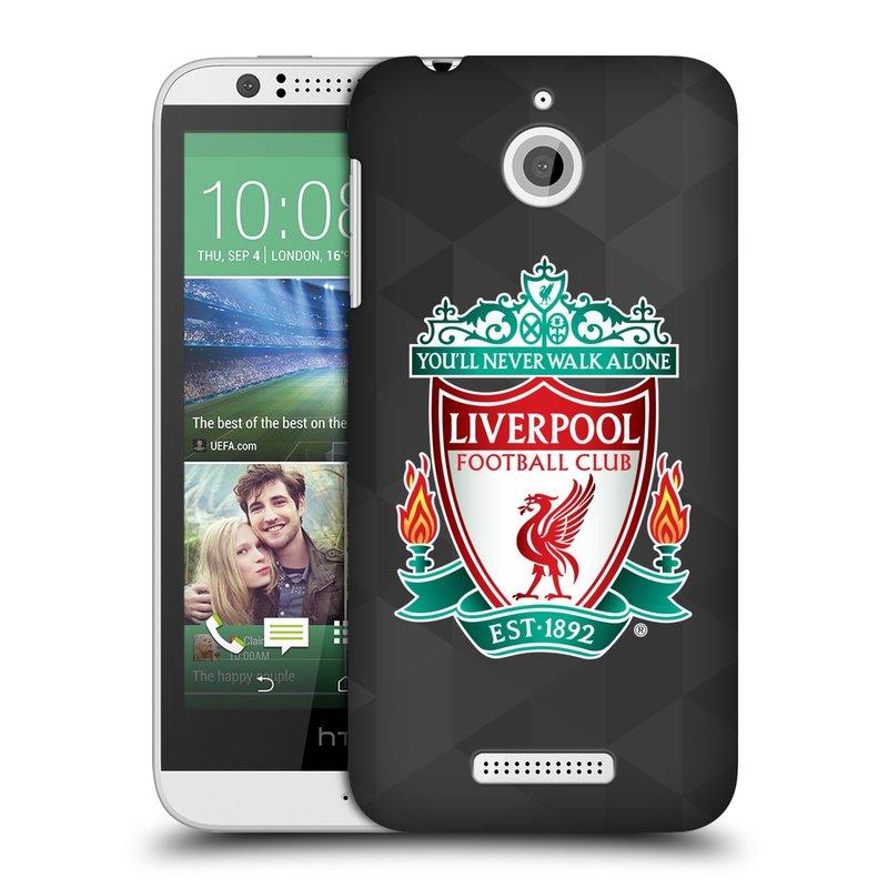 Plastové pouzdro na mobil HTC Desire 510 HEAD CASE ZNAK LIVERPOOL FC OFFICIAL GEOMETRIC BLACK (Kryt či obal na mobilní telefon Liverpool FC Official pro HTC Desire 510)
