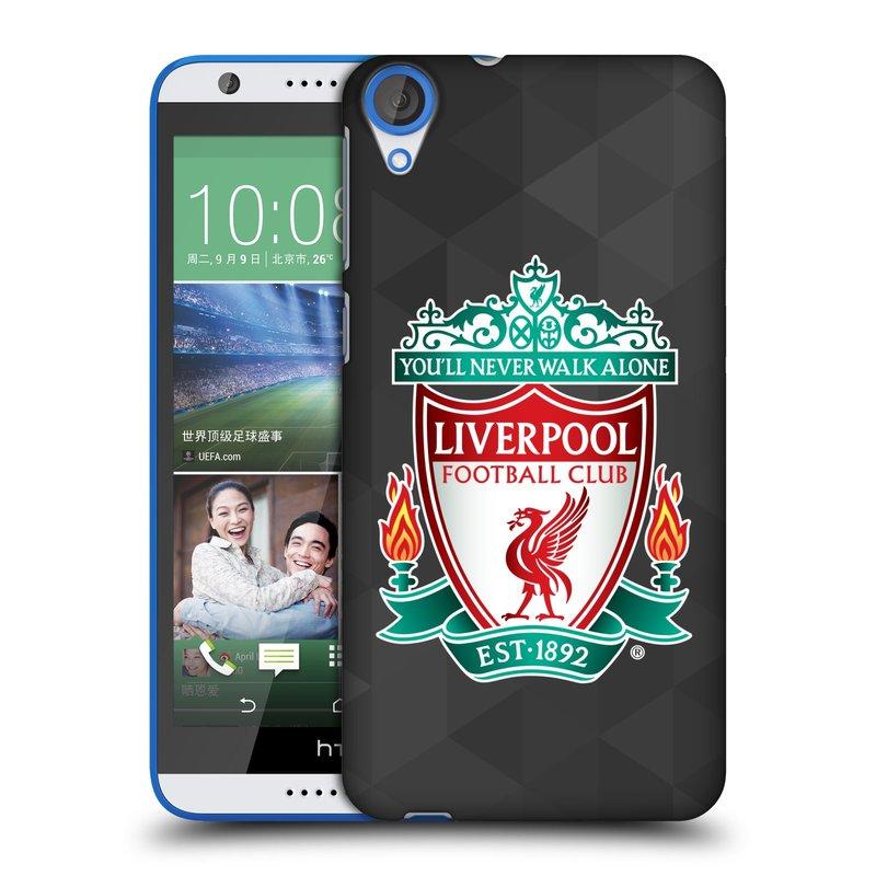 Plastové pouzdro na mobil HTC Desire 820 HEAD CASE ZNAK LIVERPOOL FC OFFICIAL GEOMETRIC BLACK (Kryt či obal na mobilní telefon Liverpool FC Official pro HTC Desire 820)