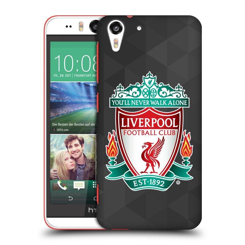 Plastové pouzdro na mobil HTC Desire EYE HEAD CASE ZNAK LIVERPOOL FC OFFICIAL GEOMETRIC BLACK (Kryt či obal na mobilní telefon Liverpool FC Official pro HTC Desire EYE)