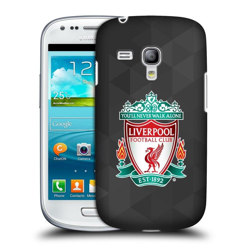 Plastové pouzdro na mobil Samsung Galaxy S3 Mini VE HEAD CASE ZNAK LIVERPOOL FC OFFICIAL GEOMETRIC BLACK (Kryt či obal na mobilní telefon Liverpool FC Official pro Samsung Galaxy S3 Mini VE GT-i8200)
