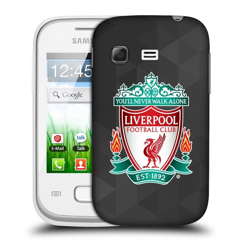 Plastové pouzdro na mobil Samsung Galaxy Pocket HEAD CASE ZNAK LIVERPOOL FC OFFICIAL GEOMETRIC BLACK (Kryt či obal na mobilní telefon Liverpool FC Official pro Samsung Galaxy Pocket GT-S5300)