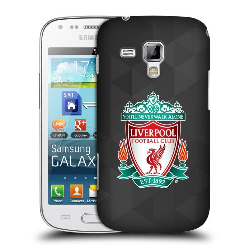 Plastové pouzdro na mobil Samsung Galaxy S Duos 2 HEAD CASE ZNAK LIVERPOOL FC OFFICIAL GEOMETRIC BLACK (Kryt či obal na mobilní telefon Liverpool FC Official pro Samsung Galaxy S Duos 2 GT-S7582)
