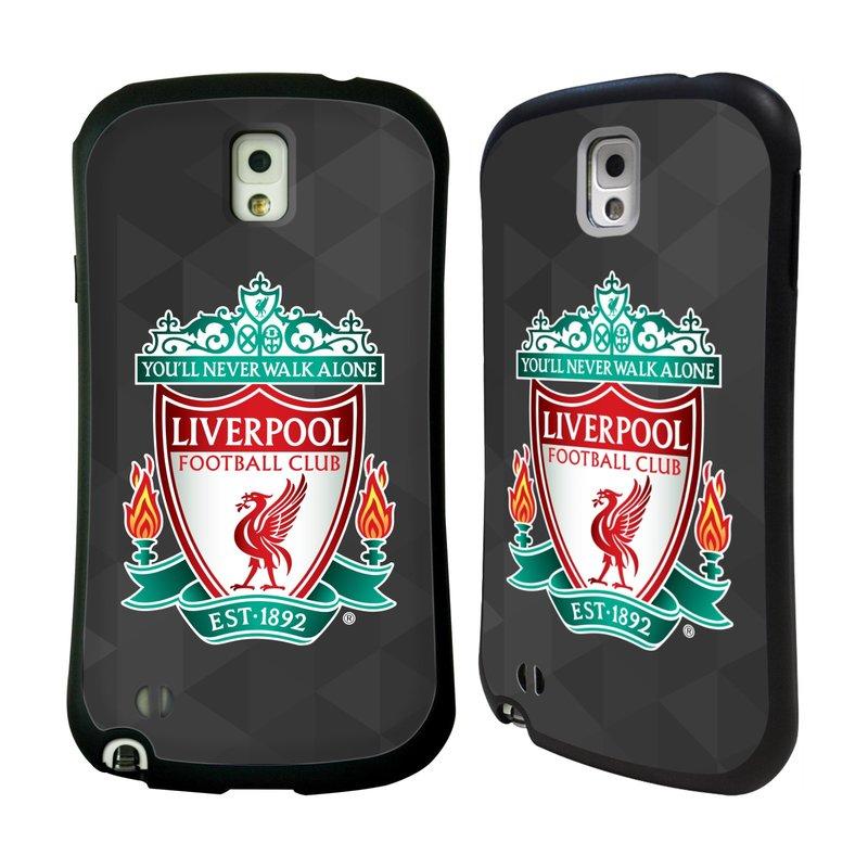 Nárazuvzdorné Plastové pouzdro na mobil Samsung Galaxy Note 3 HEAD CASE ZNAK LIVERPOOL FC OFFICIAL GEOMETRIC BLACK (Odolný nárazuvzdorný silikonový kryt či obal na mobilní telefon Liverpool FC Official pro Samsung Galaxy Note 3 SM-N9005)