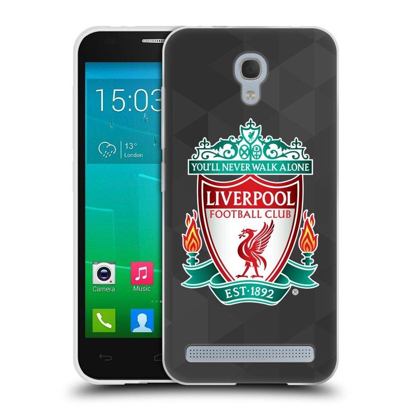 Silikonové pouzdro na mobil Alcatel One Touch Idol 2 Mini S 6036Y HEAD CASE ZNAK LIVERPOOL FC OFFICIAL GEOMETRIC BLACK (Silikonový kryt či obal na mobilní telefon Liverpool FC Official pro Alcatel Idol 2 Mini S OT-6036Y)