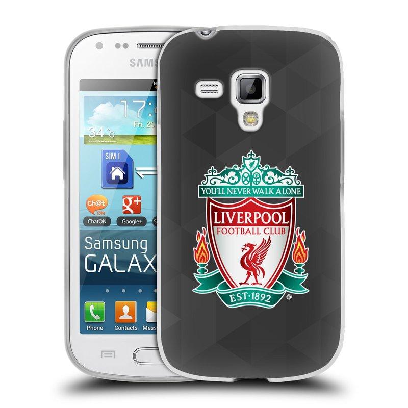 Silikonové pouzdro na mobil Samsung Galaxy S Duos 2 HEAD CASE ZNAK LIVERPOOL FC OFFICIAL GEOMETRIC BLACK (Silikonový kryt či obal na mobilní telefon Liverpool FC Official pro Samsung Galaxy S Duos 2 GT-S7582)