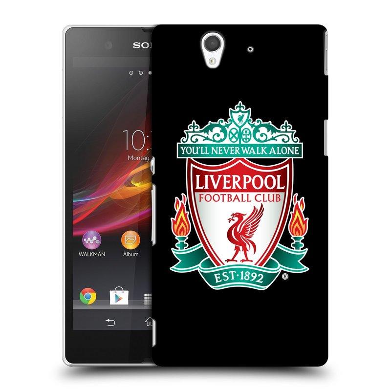 Plastové pouzdro na mobil Sony Xperia Z C6603 HEAD CASE ZNAK LIVERPOOL FC OFFICIAL BLACK (Kryt či obal na mobilní telefon Liverpool FC Official pro Sony Xperia Z)