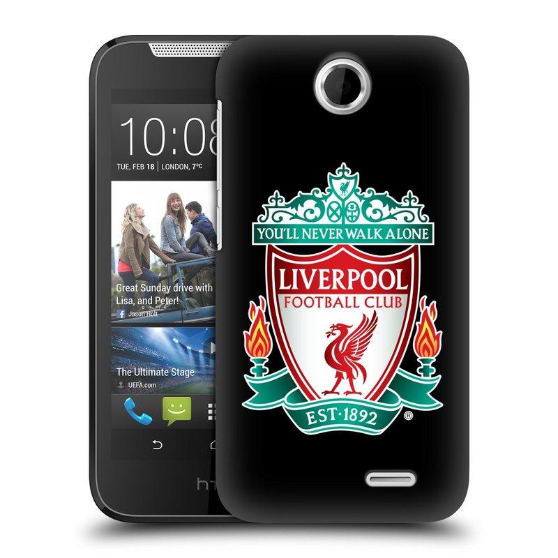 Plastové pouzdro na mobil HTC Desire 310 HEAD CASE ZNAK LIVERPOOL FC OFFICIAL BLACK (Kryt či obal na mobilní telefon Liverpool FC Official pro HTC Desire 310)