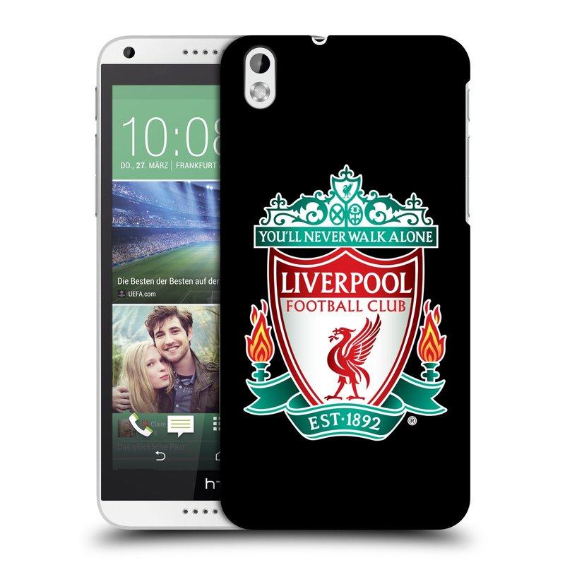 Plastové pouzdro na mobil HTC Desire 816 HEAD CASE ZNAK LIVERPOOL FC OFFICIAL BLACK (Kryt či obal na mobilní telefon Liverpool FC Official pro HTC Desire 816)
