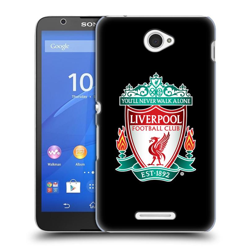 Plastové pouzdro na mobil Sony Xperia E4 E2105 HEAD CASE ZNAK LIVERPOOL FC OFFICIAL BLACK (Kryt či obal na mobilní telefon Liverpool FC Official pro Sony Xperia E4 a E4 Dual SIM)