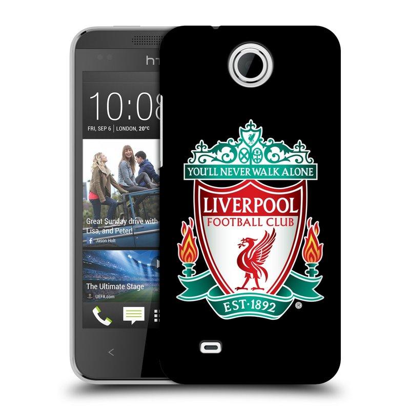 Plastové pouzdro na mobil HTC Desire 300 HEAD CASE ZNAK LIVERPOOL FC OFFICIAL BLACK (Kryt či obal na mobilní telefon Liverpool FC Official pro HTC Desire 300)