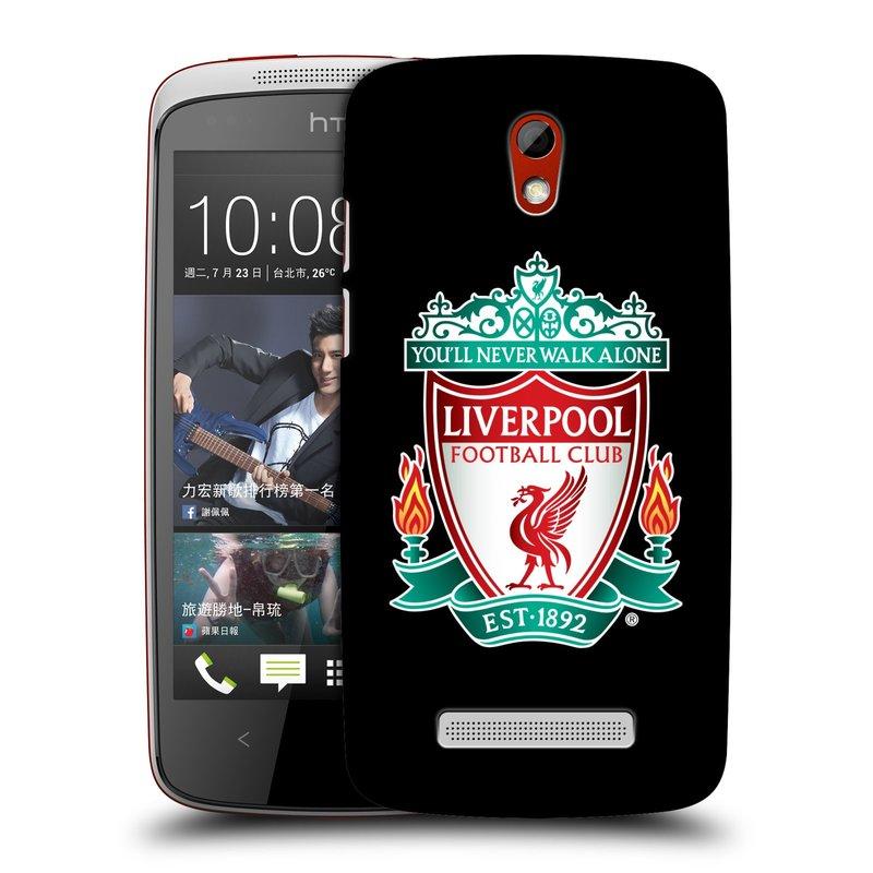 Plastové pouzdro na mobil HTC Desire 500 HEAD CASE ZNAK LIVERPOOL FC OFFICIAL BLACK (Kryt či obal na mobilní telefon Liverpool FC Official pro HTC Desire 500)