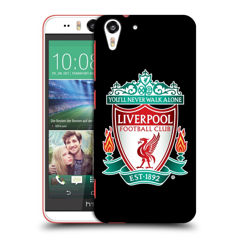 Plastové pouzdro na mobil HTC Desire EYE HEAD CASE ZNAK LIVERPOOL FC OFFICIAL BLACK (Kryt či obal na mobilní telefon Liverpool FC Official pro HTC Desire EYE)