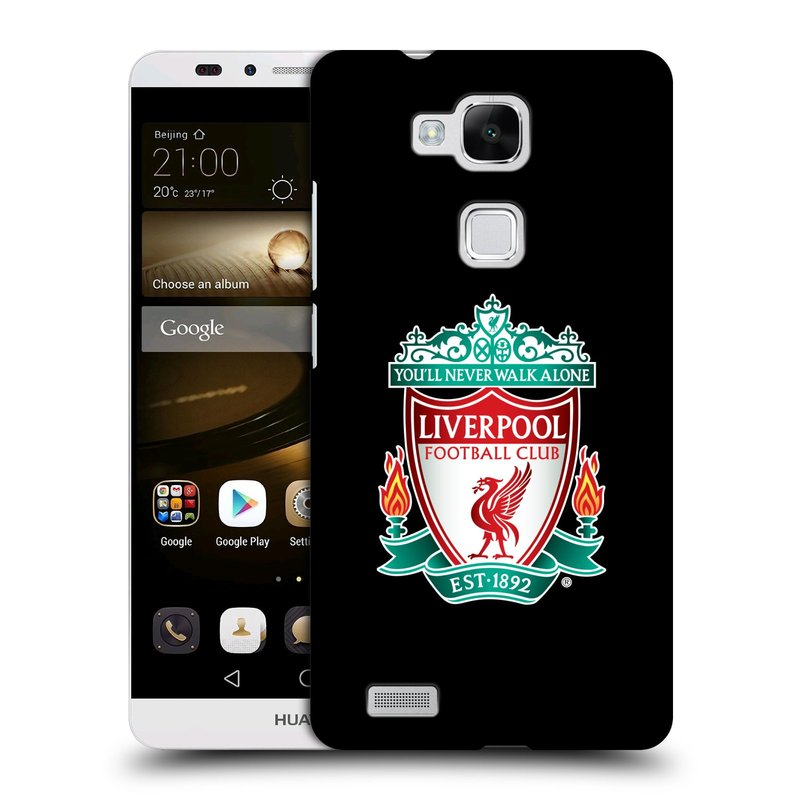 Plastové pouzdro na mobil Huawei Ascend Mate 7 HEAD CASE ZNAK LIVERPOOL FC OFFICIAL BLACK (Kryt či obal na mobilní telefon Liverpool FC Official pro Huawei Ascend Mate7)