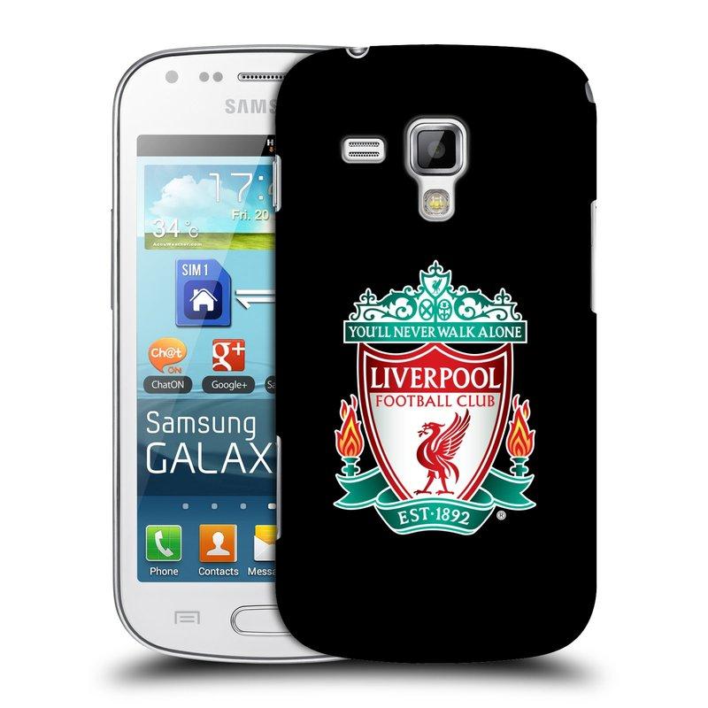 Plastové pouzdro na mobil Samsung Galaxy S Duos 2 HEAD CASE ZNAK LIVERPOOL FC OFFICIAL BLACK (Kryt či obal na mobilní telefon Liverpool FC Official pro Samsung Galaxy S Duos 2 GT-S7582)