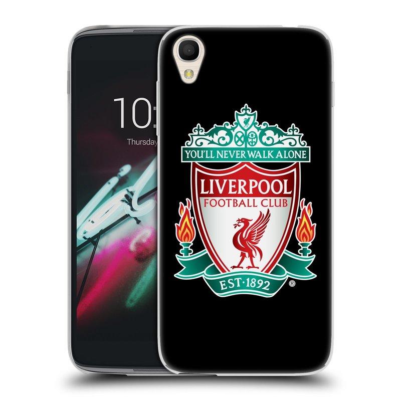 Silikonové pouzdro na mobil Alcatel One Touch 6039Y Idol 3 HEAD CASE ZNAK LIVERPOOL FC OFFICIAL BLACK (Silikonový kryt či obal na mobilní telefon Liverpool FC Official pro Alcatel One Touch 6039Y Idol 3)