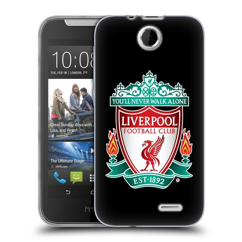 Silikonové pouzdro na mobil HTC Desire 310 HEAD CASE ZNAK LIVERPOOL FC OFFICIAL BLACK (Silikonový kryt či obal na mobilní telefon Liverpool FC Official pro HTC Desire 310)