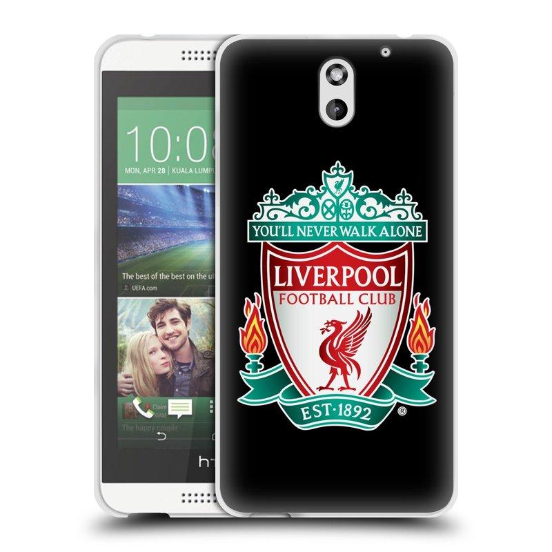 Silikonové pouzdro na mobil HTC Desire 610 HEAD CASE ZNAK LIVERPOOL FC OFFICIAL BLACK (Silikonový kryt či obal na mobilní telefon Liverpool FC Official pro HTC Desire 610)