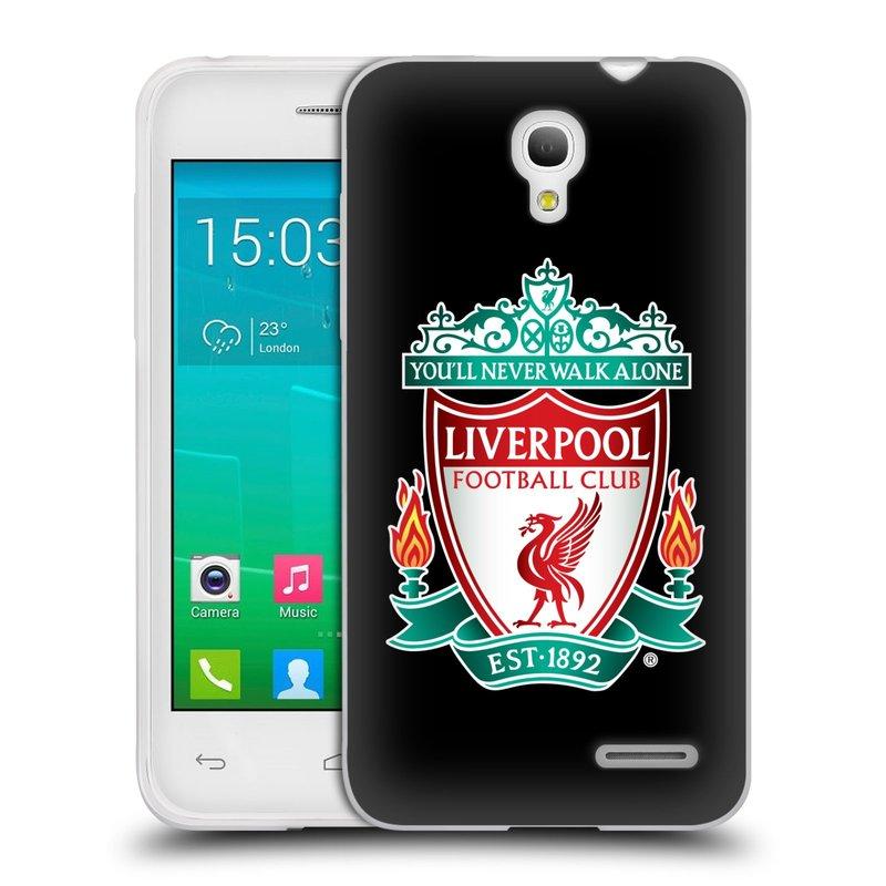 Silikonové pouzdro na mobil Alcatel One Touch Pop S3 HEAD CASE ZNAK LIVERPOOL FC OFFICIAL BLACK (Silikonový kryt či obal na mobilní telefon Liverpool FC Official pro Alcatel One Touch Pop S3)