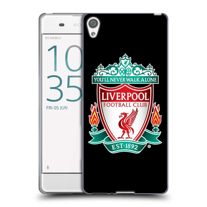 Silikonové pouzdro na mobil Sony Xperia XA HEAD CASE ZNAK LIVERPOOL FC OFFICIAL BLACK (Silikonový kryt či obal na mobilní telefon Liverpool FC Official pro Sony Xperia XA F3111 / Dual SIM F3112)