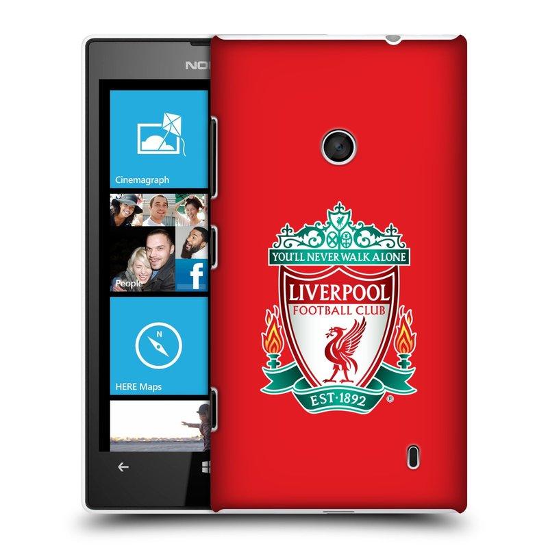 Plastové pouzdro na mobil Nokia Lumia 520 HEAD CASE ZNAK LIVERPOOL FC OFFICIAL RED (Kryt či obal na mobilní telefon Liverpool FC Official pro Nokia Lumia 520 )