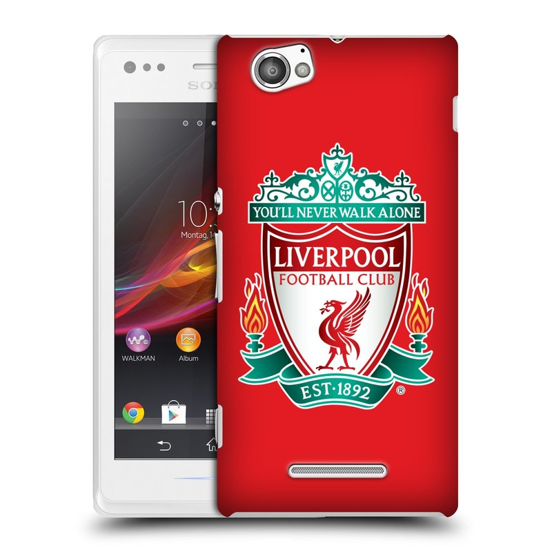 Plastové pouzdro na mobil Sony Xperia M C1905 HEAD CASE ZNAK LIVERPOOL FC OFFICIAL RED (Kryt či obal na mobilní telefon Liverpool FC Official pro Sony Xperia M )