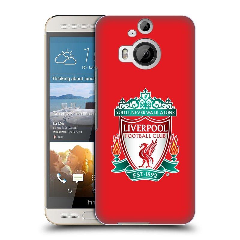 Plastové pouzdro na mobil HTC One M9+ (Plus) HEAD CASE ZNAK LIVERPOOL FC OFFICIAL RED (Kryt či obal na mobilní telefon Liverpool FC Official pro HTC One M9+)