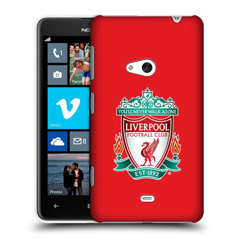 Plastové pouzdro na mobil Nokia Lumia 625 HEAD CASE ZNAK LIVERPOOL FC OFFICIAL RED (Kryt či obal na mobilní telefon Liverpool FC Official pro Nokia Lumia 625)