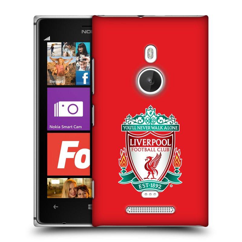 Plastové pouzdro na mobil Nokia Lumia 925 HEAD CASE ZNAK LIVERPOOL FC OFFICIAL RED (Kryt či obal na mobilní telefon Liverpool FC Official pro Nokia Lumia 925)