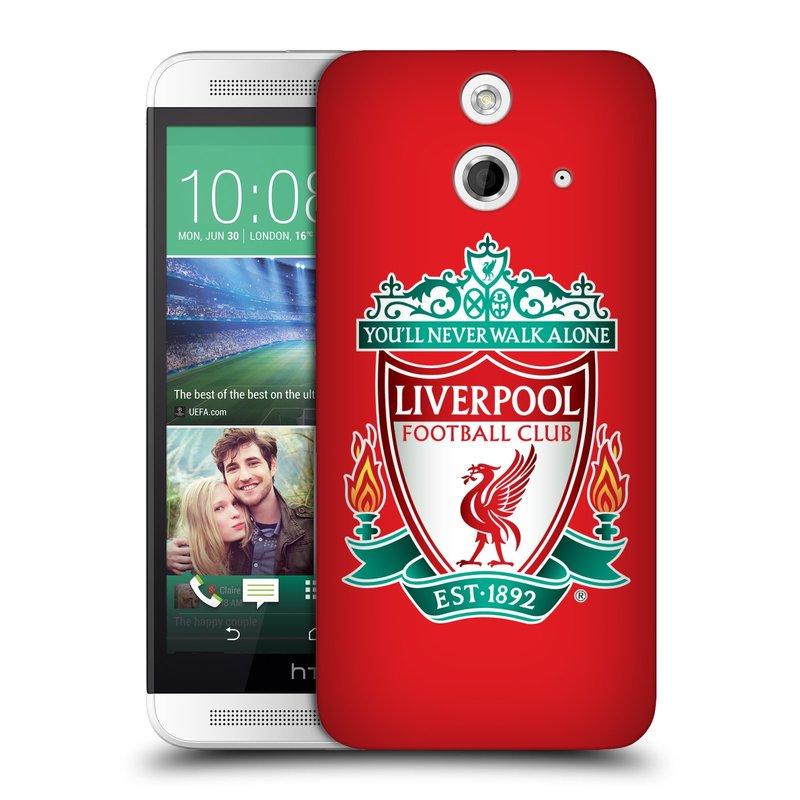 Plastové pouzdro na mobil HTC ONE E8 HEAD CASE ZNAK LIVERPOOL FC OFFICIAL RED (Kryt či obal na mobilní telefon Liverpool FC Official pro HTC ONE E8)