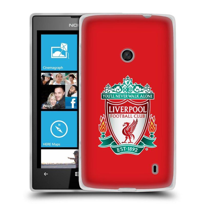Silikonové pouzdro na mobil Nokia Lumia 520 HEAD CASE ZNAK LIVERPOOL FC OFFICIAL RED (Silikonový Kryt či obal na mobilní telefon Liverpool FC Official pro Nokia Lumia 520)