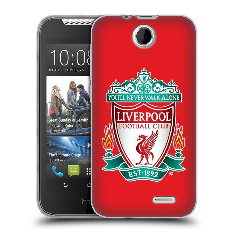 Silikonové pouzdro na mobil HTC Desire 310 HEAD CASE ZNAK LIVERPOOL FC OFFICIAL RED (Silikonový kryt či obal na mobilní telefon Liverpool FC Official pro HTC Desire 310)