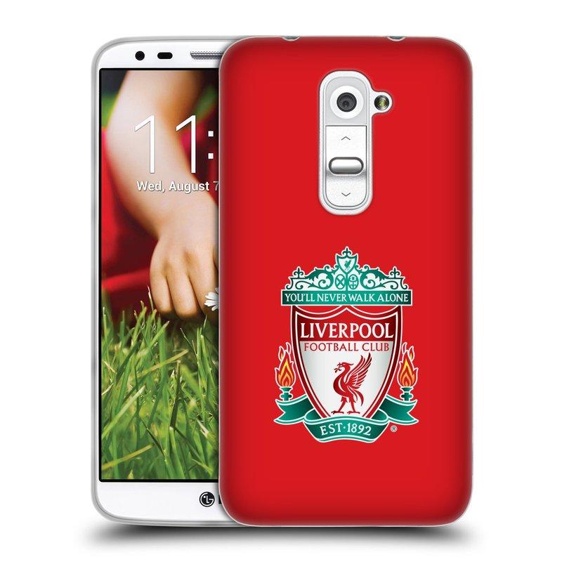 Silikonové pouzdro na mobil HTC LG G2 HEAD CASE ZNAK LIVERPOOL FC OFFICIAL RED (Silikonový kryt či obal na mobilní telefon Liverpool FC Official pro HTC LG G2)