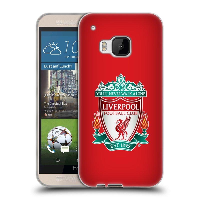 Silikonové pouzdro na mobil HTC ONE M9 HEAD CASE ZNAK LIVERPOOL FC OFFICIAL RED (Silikonový kryt či obal na mobilní telefon Liverpool FC Official pro HTC ONE M9)