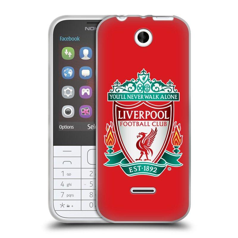 Silikonové pouzdro na mobil Nokia 225 HEAD CASE ZNAK LIVERPOOL FC OFFICIAL RED (Silikonový kryt či obal na mobilní telefon Liverpool FC Official pro Nokia 225)