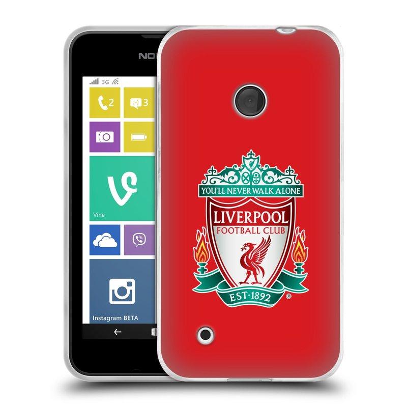 Silikonové pouzdro na mobil Nokia Lumia 530 HEAD CASE ZNAK LIVERPOOL FC OFFICIAL RED (Silikonový kryt či obal na mobilní telefon Liverpool FC Official pro Nokia Lumia 530)