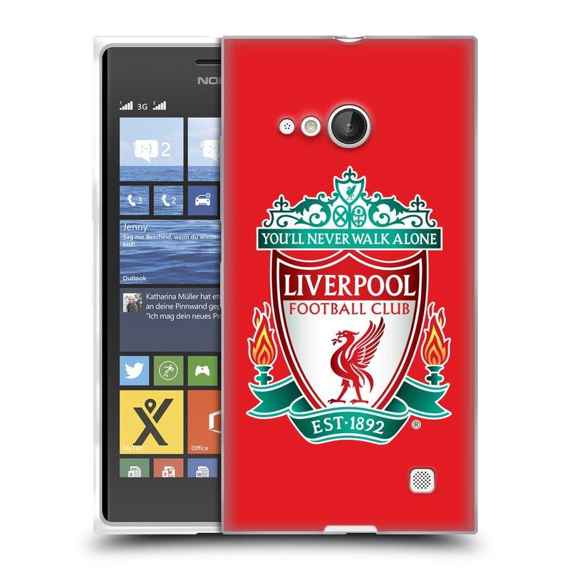 Silikonové pouzdro na mobil Nokia Lumia 735 HEAD CASE ZNAK LIVERPOOL FC OFFICIAL RED (Silikonový kryt či obal na mobilní telefon Liverpool FC Official pro Nokia Lumia 735)