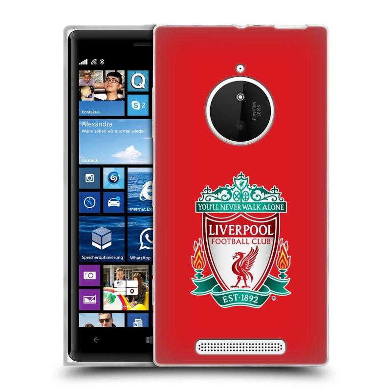Silikonové pouzdro na mobil Nokia Lumia 830 HEAD CASE ZNAK LIVERPOOL FC OFFICIAL RED (Silikonový kryt či obal na mobilní telefon Liverpool FC Official pro Nokia Lumia 830)