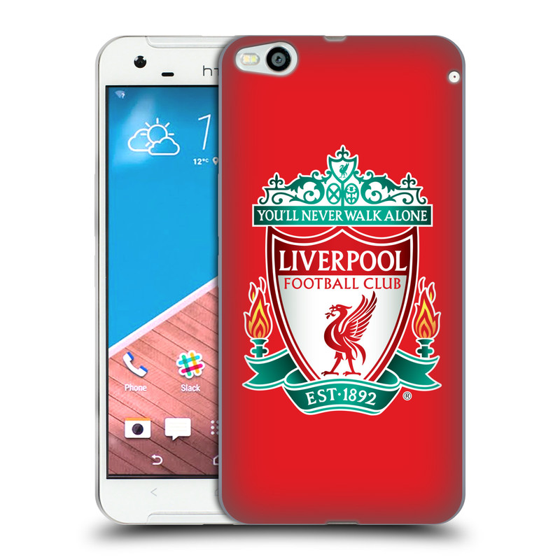 Silikonové pouzdro na mobil HTC One X9 HEAD CASE ZNAK LIVERPOOL FC OFFICIAL RED (Silikonový kryt či obal na mobilní telefon Liverpool FC Official pro HTC One X9)