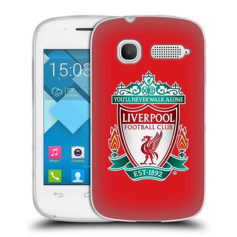 Silikonové pouzdro na mobil Alcatel One Touch Pop C1 HEAD CASE ZNAK LIVERPOOL FC OFFICIAL RED (Silikonový kryt či obal na mobilní telefon Liverpool FC Official pro Alcatel One Touch Pop C1)