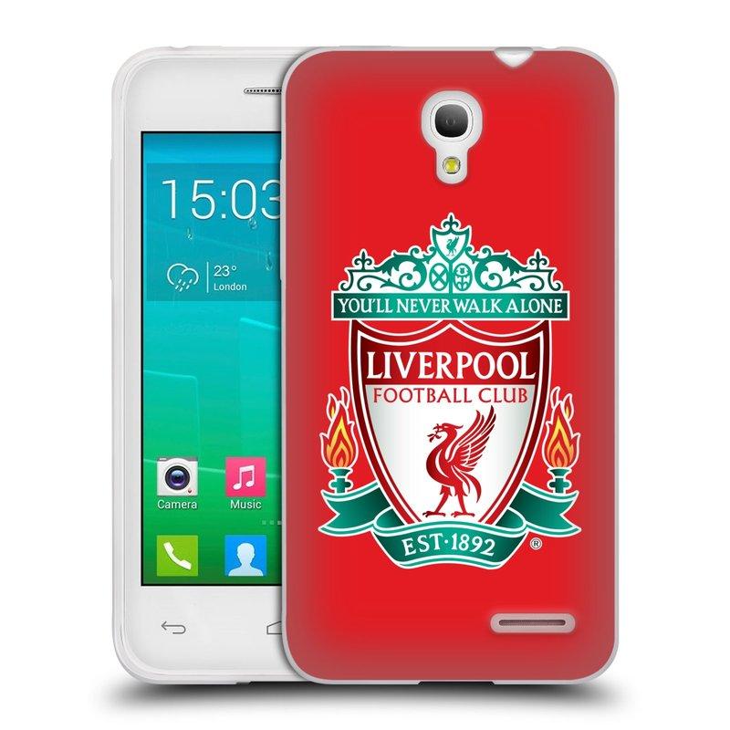 Silikonové pouzdro na mobil Alcatel One Touch Pop S3 HEAD CASE ZNAK LIVERPOOL FC OFFICIAL RED (Silikonový kryt či obal na mobilní telefon Liverpool FC Official pro Alcatel One Touch Pop S3)