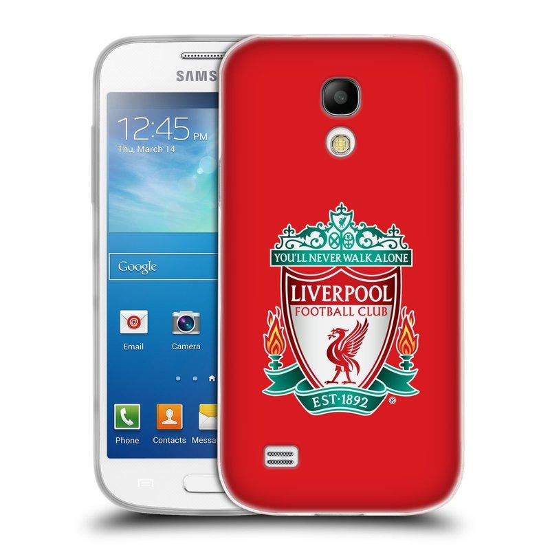 Silikonové pouzdro na mobil Samsung Galaxy S4 Mini HEAD CASE ZNAK LIVERPOOL FC OFFICIAL RED (Silikonový kryt či obal na mobilní telefon Liverpool FC Official pro Samsung Galaxy S4 Mini GT-i9195 / i9190)