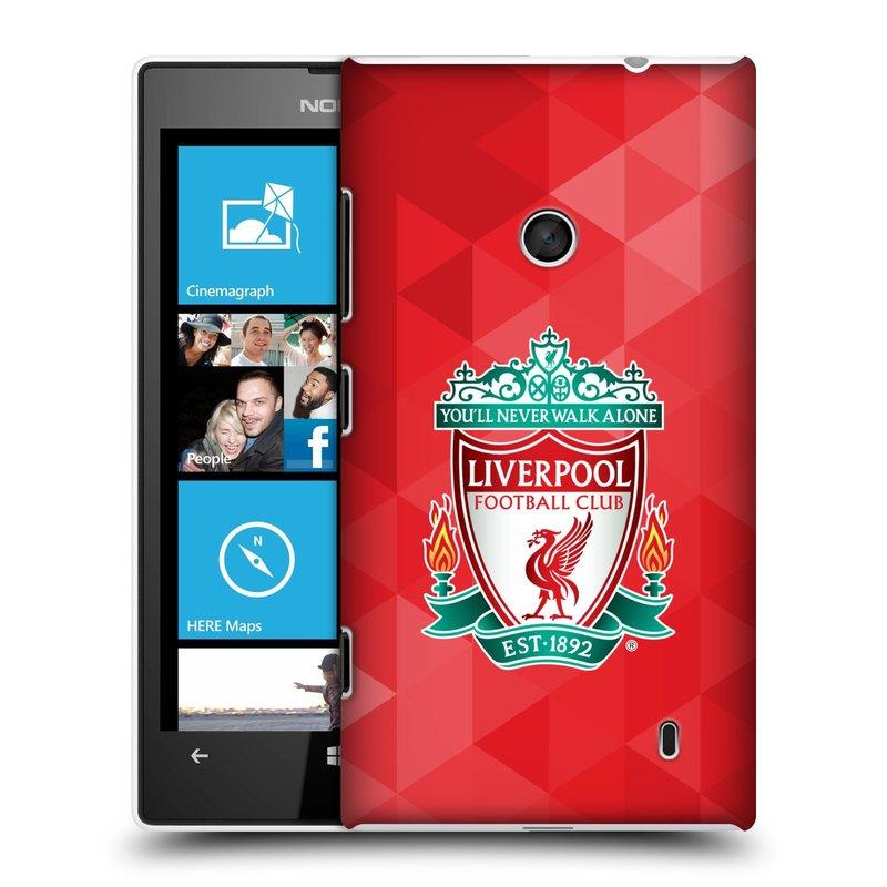 Plastové pouzdro na mobil Nokia Lumia 520 HEAD CASE ZNAK LIVERPOOL FC OFFICIAL GEOMETRIC RED (Kryt či obal na mobilní telefon Liverpool FC Official pro Nokia Lumia 520 )