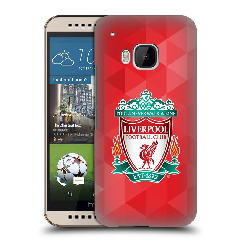 Plastové pouzdro na mobil HTC ONE M9 HEAD CASE ZNAK LIVERPOOL FC OFFICIAL GEOMETRIC RED (Kryt či obal na mobilní telefon Liverpool FC Official pro HTC ONE M9)